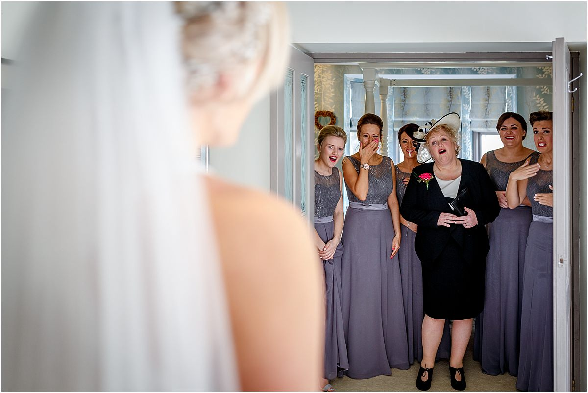 Southdowns Manor Wedding Photography mother of the brides first look