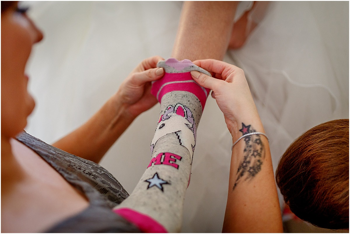 Southdowns Manor Wedding Photography unicorn socks