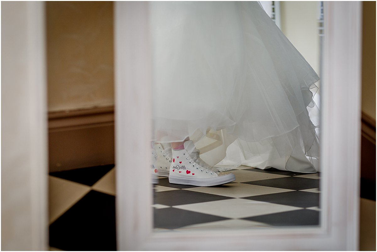 Southdowns Manor Wedding Photography models converse wedding trainers