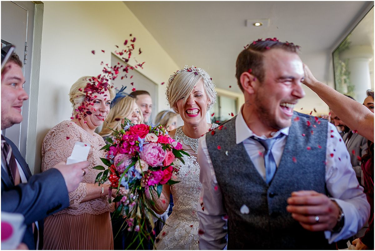 Southdowns Manor Wedding Photography wedding confetti