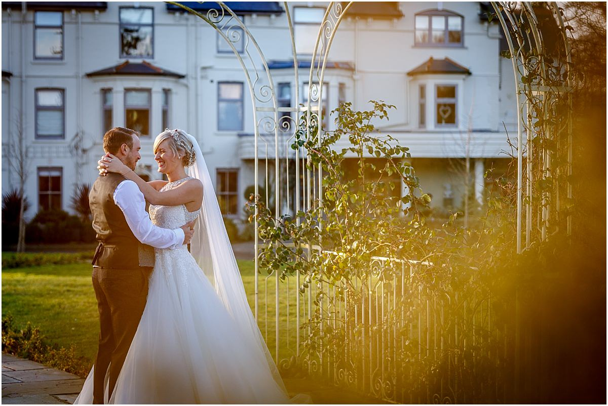 Southdowns Manor Wedding Photography bride and groom portrait