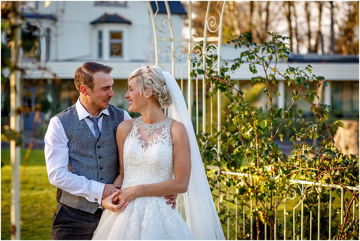 Southdowns Manor Wedding Photography bride and groom laughing