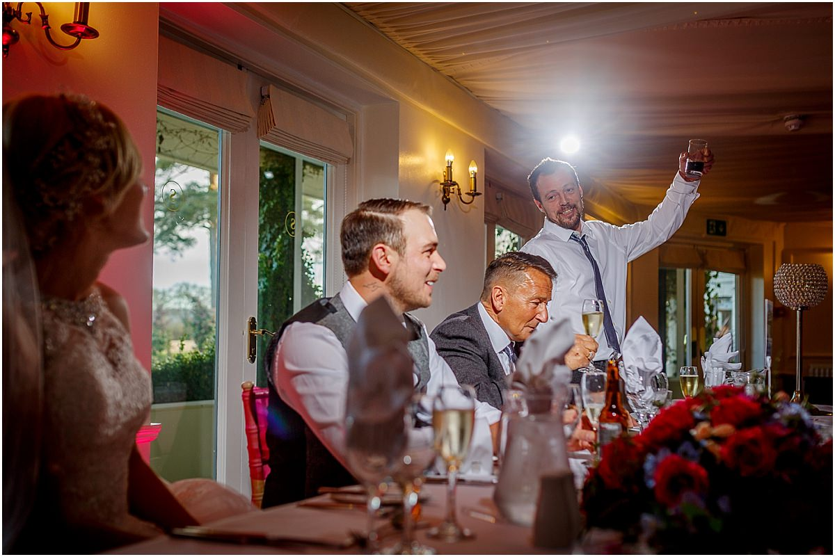 Southdowns Manor Wedding Photography best man speech