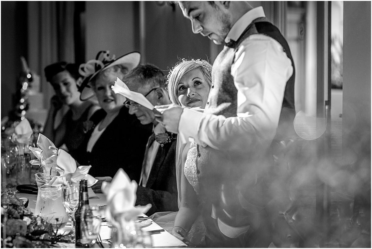 Southdowns Manor Wedding Photography grooms speech