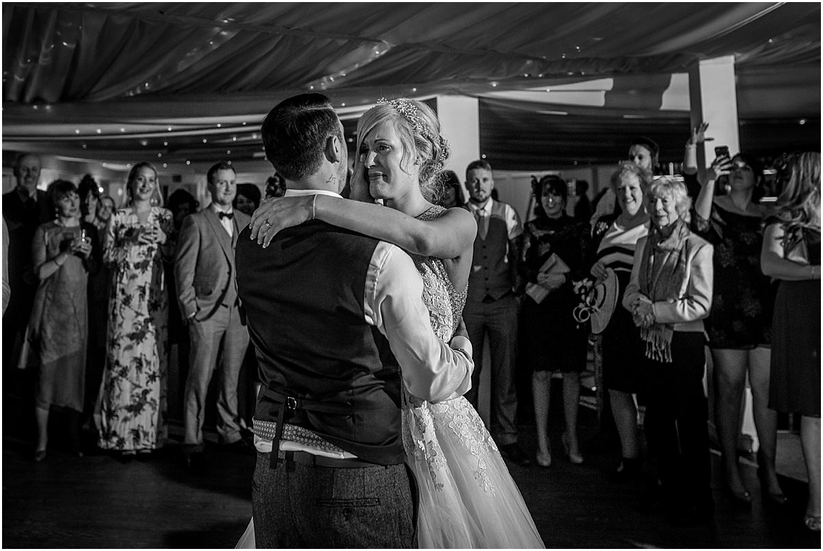 Southdowns Manor Wedding Photography bride and grooms first dance